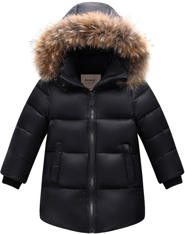 Zoerea Giubbotti Piumino Bambino Inverno Caldo Bambini Addensare Outfit Piumino con Cappuccio K2468
