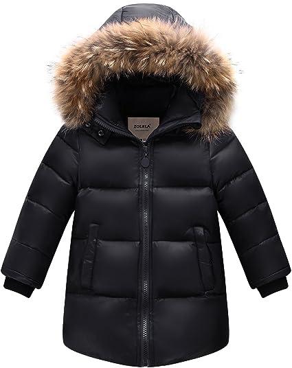 cbea4f581 ZOEREA Boys Warm Winter Coat Kids Down Jacket with Hooded Thicken ...