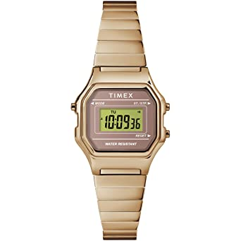 40eb2aba4 Timex Women's TW2T48100 Classic Digital Mini Rose Gold-Tone Stainless Steel Expansion  Band Watch