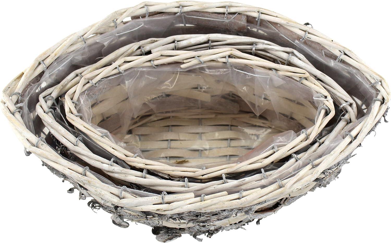 Holz K/örbe mit Eins/ätzen A Viereckig 3er Set