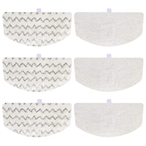 Isingo 6 Pack Steam Mop Pads Compatible Bissell PowerFresh 1806 1940 1544 1440 Series, Replacement Part Model #5938#203-2633