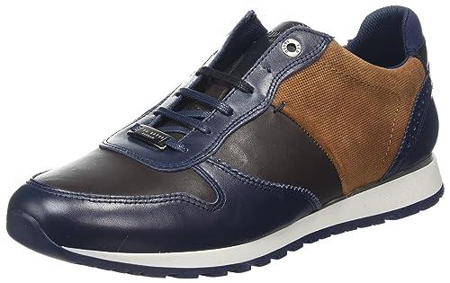 Ted Baker Shindlm, Zapatillas Para Hombre, Azul (Dark Blue/Brown), 41 EU
