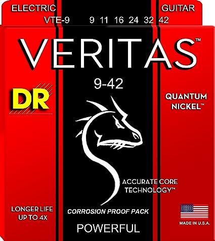 DR Strings VTE-9 Veritas Light 9-42 Electric Strings 3-Sets