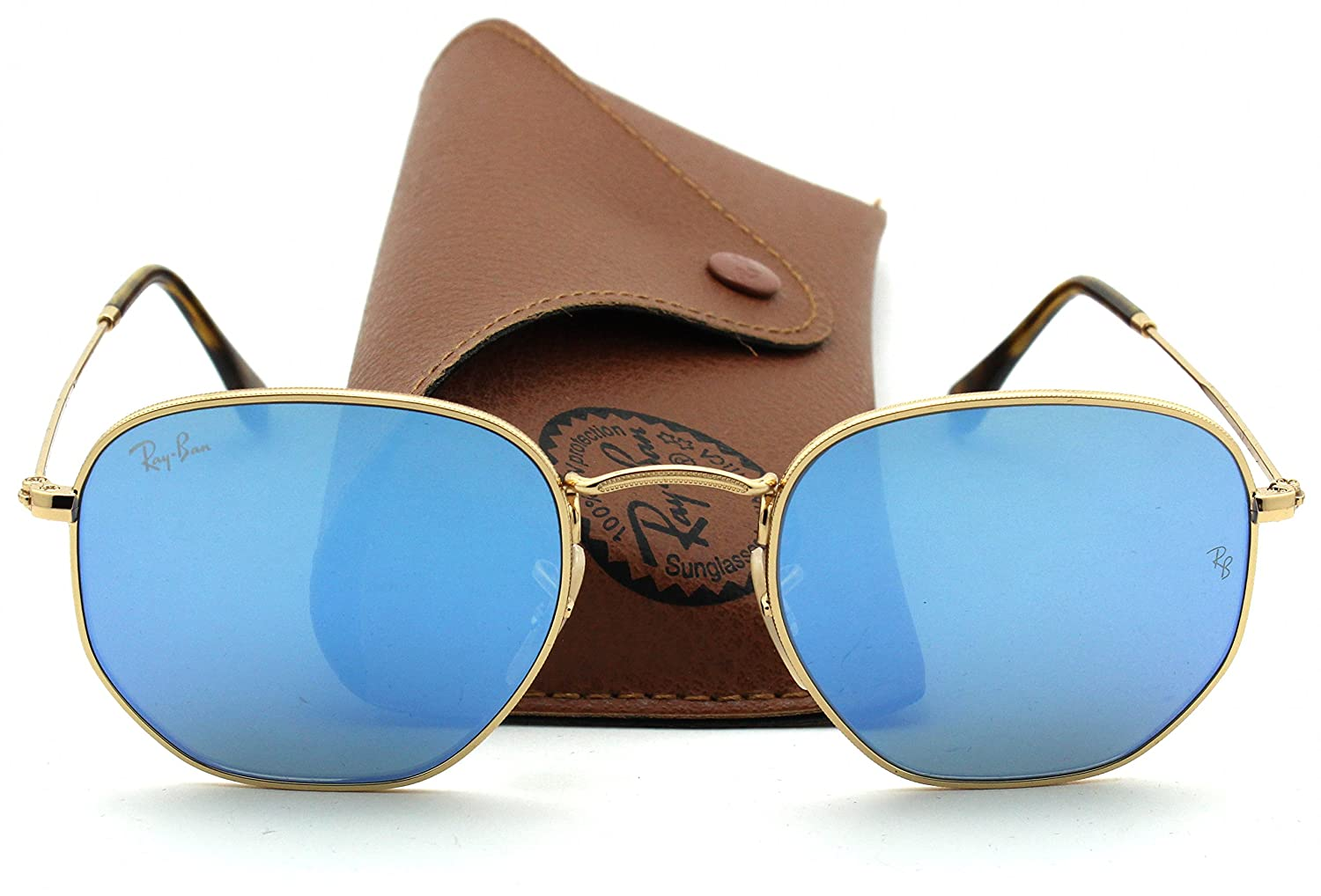927e181bf49f3 Ray-Ban RB3548N HEXAGONAL FLAT LENSES Sunglasses Blue Gradient Flash Lens  001 9O