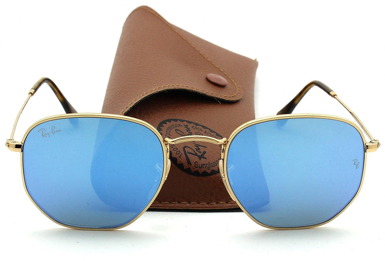 dcab4cec10 Ray-Ban RB3548N HEXAGONAL FLAT LENSES Sunglasses Blue Gradient Flash Lens  001 9O