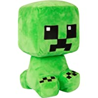 """JINX Minecraft Crafter Creeper Plush Stuffed Toy, Green, 8.75"""" Tall"""