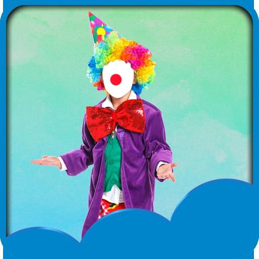 [Clown Photo Montage] (Amusement Clown Costume)