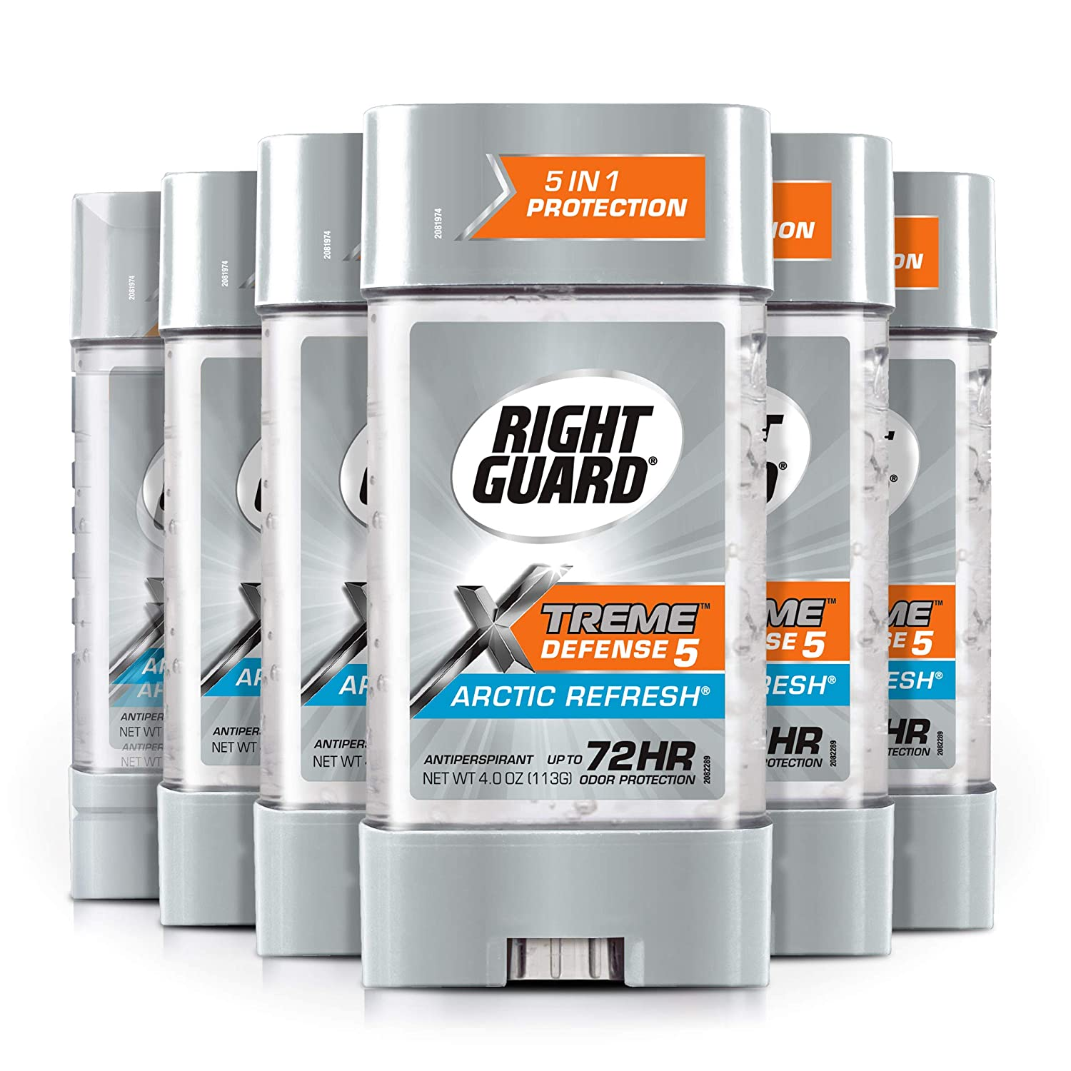 Right Guard Xtreme Defense Antiperspirant Deodorant Gel, Arctic Refresh, 4 Ounce (6 pack)