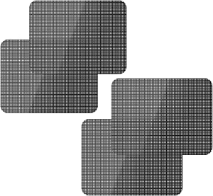 Car Window Sun Shade Sticker Side Window Visor Shades Electrostatic Self-Adhesive Stickers UV Protection Reusable