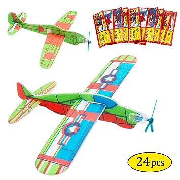 MMTX Juego de Aviones de Planeador, avión de Papel, Aviones de planeadores voladores, Regalo de cumpleaños para niños, Regalo de cumpleaños de Away ...