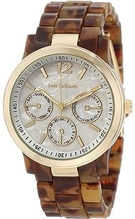 Womens Boyfriend Watch Brown Tortoise Bracelet Gold Tone Case Jade LeBaum JB202740G