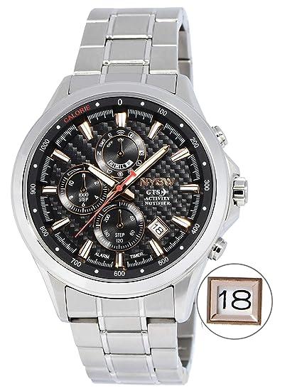 Amazon.com: NYSW - Reloj inteligente híbrido de lujo, día ...