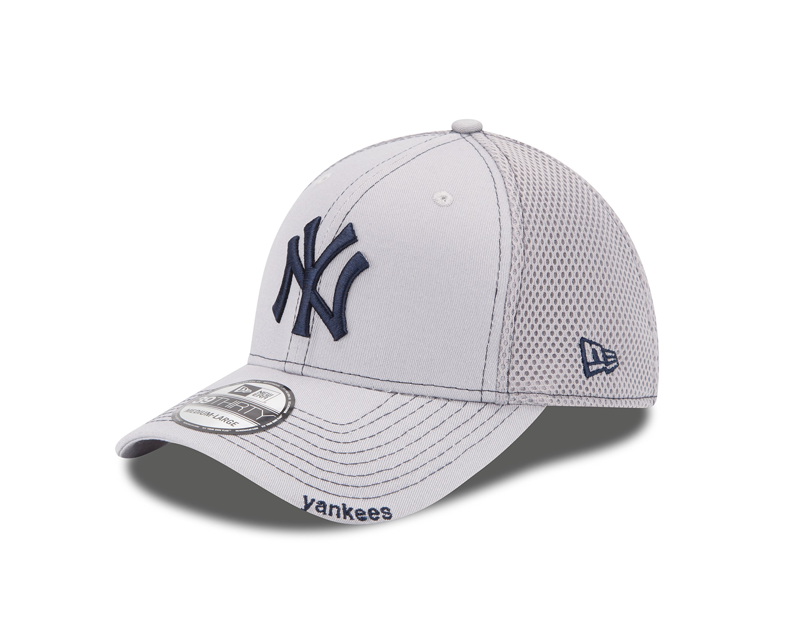 MLB New York Yankees NEO 39Thirty Stretch Fit Cap, Gray, Large/X-Large