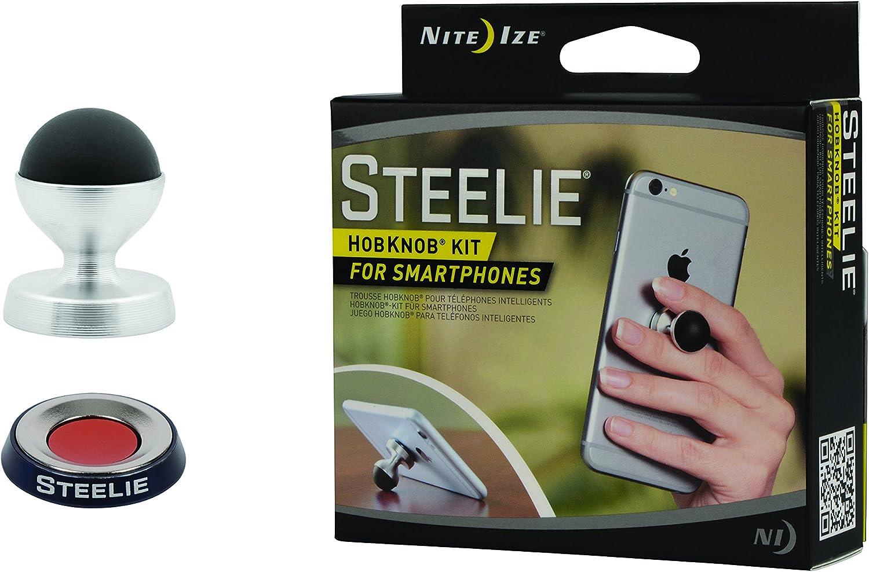 Nite Ize Original Steelie Pedestal Kit for Smartphones Magnetic Smartphone Tabletop Stand