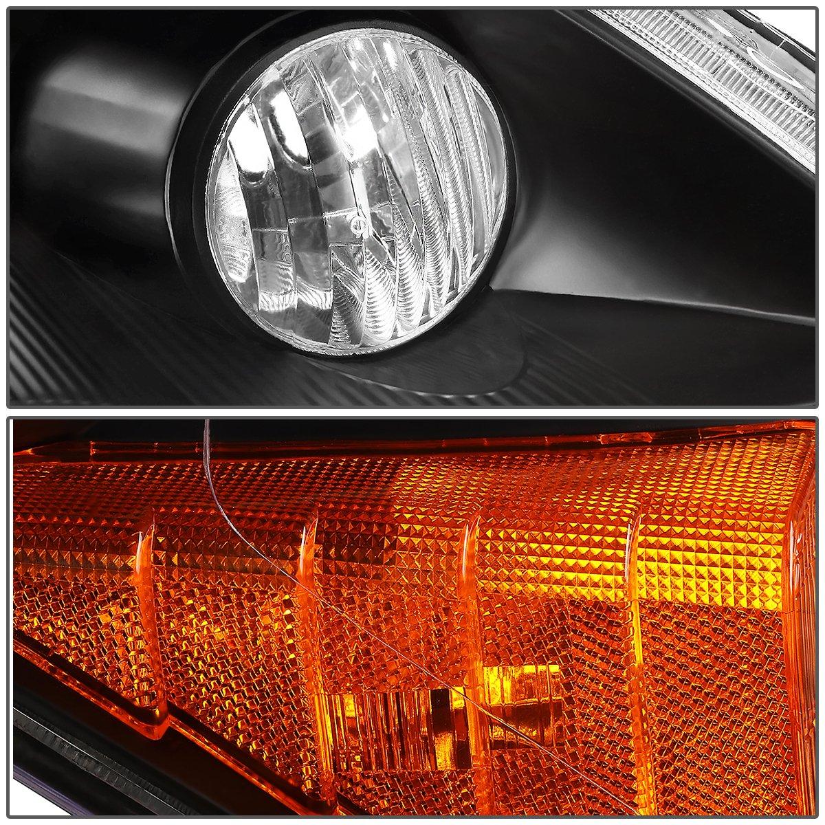 Headlight Assembly DNA MOTORING HL-OH-039-BK-AM Driver And Passenger Side