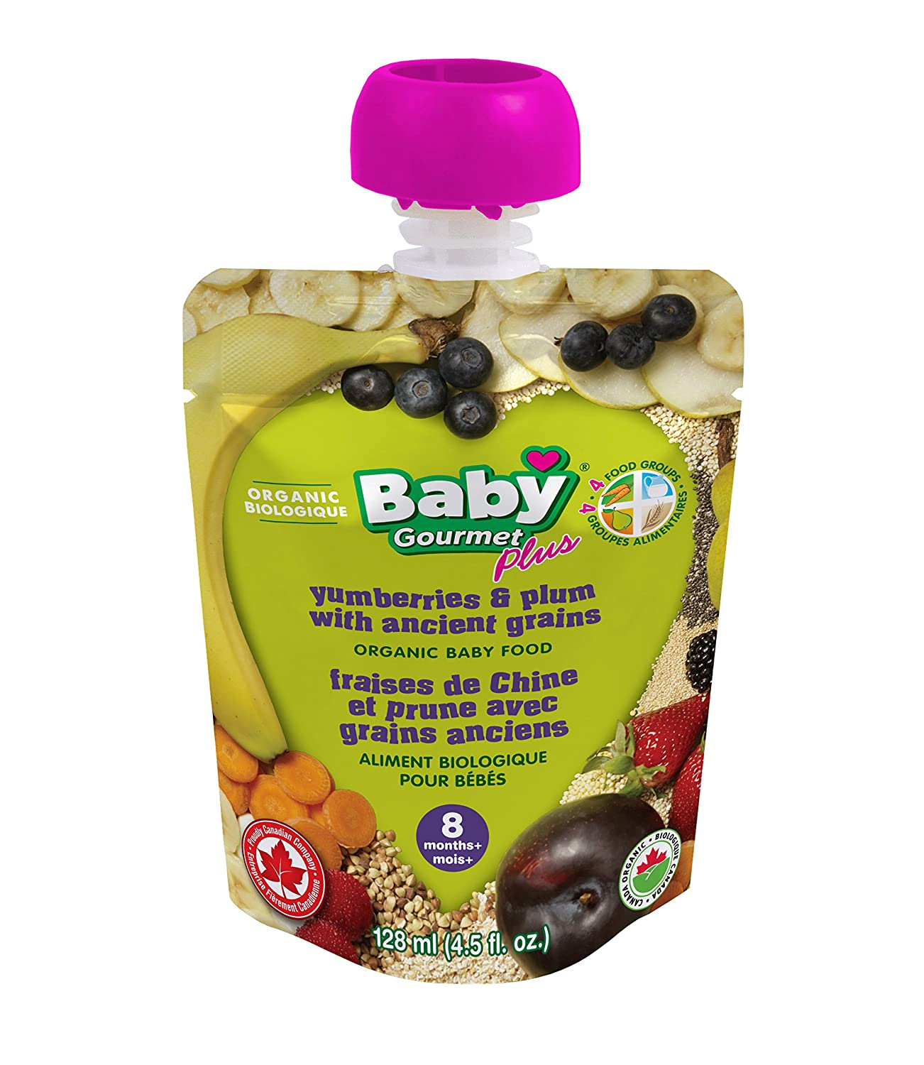 Baby Gourmet PLUS Yumberries & Plum with Ancient Grains (Pack of 12) YMBP4BGCSCD0012