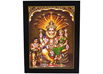 Buy 101temples Lakshmi Narasimha Swamy Wooden Photo Frame13x10