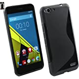 Emartbuy Slim Gel Skin Case Cover for Vodafone Smart Ultra 6 - Black