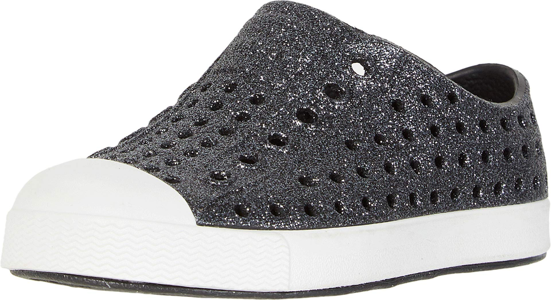 Native Kids Shoes Baby Girl's Jefferson Bling Glitter (Toddler/Little Kid) Jiffy Bling/Shell White 4 M US Toddler