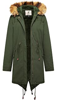 448ed02426e1 Amazon.com  Fulok Womens Warm Thick Sherpa Lined Slim Double ...