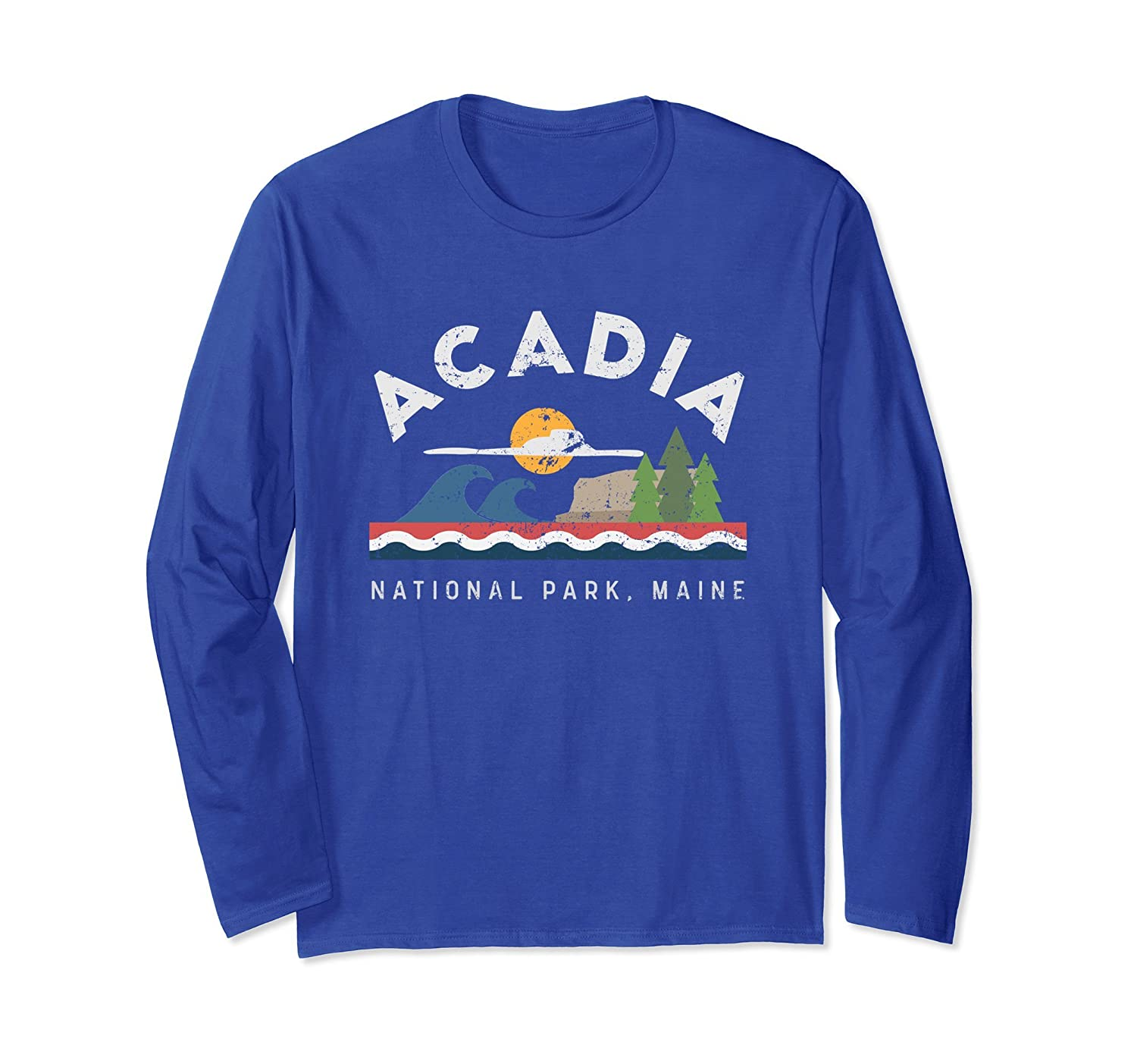 Acadia National Park Maine Longsleeve T Shirt-TH