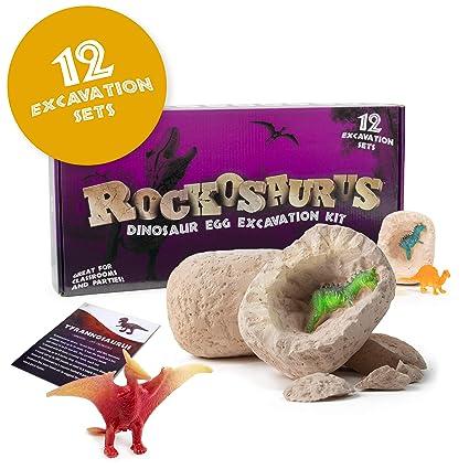 Amazon.com: JumpOff Jo Dino huevos Excavación Kit – 12 ...