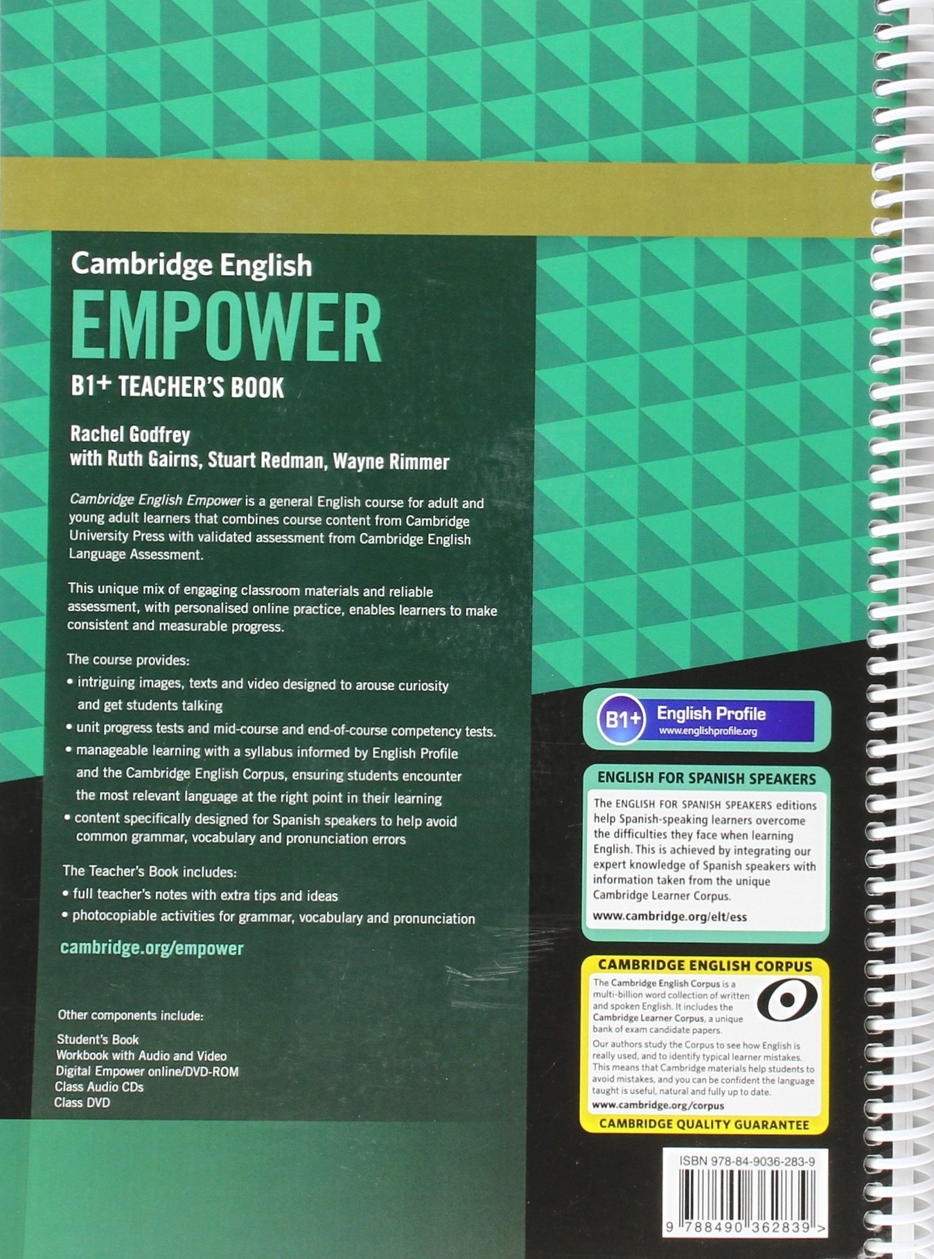 Cambridge English Empower for Spanish Speakers B1+ Teachers Book: Amazon.es: Godfrey, Rachel, Gairns, Ruth, Redman, Stuart, Rimmer, Wayne: Libros en idiomas extranjeros