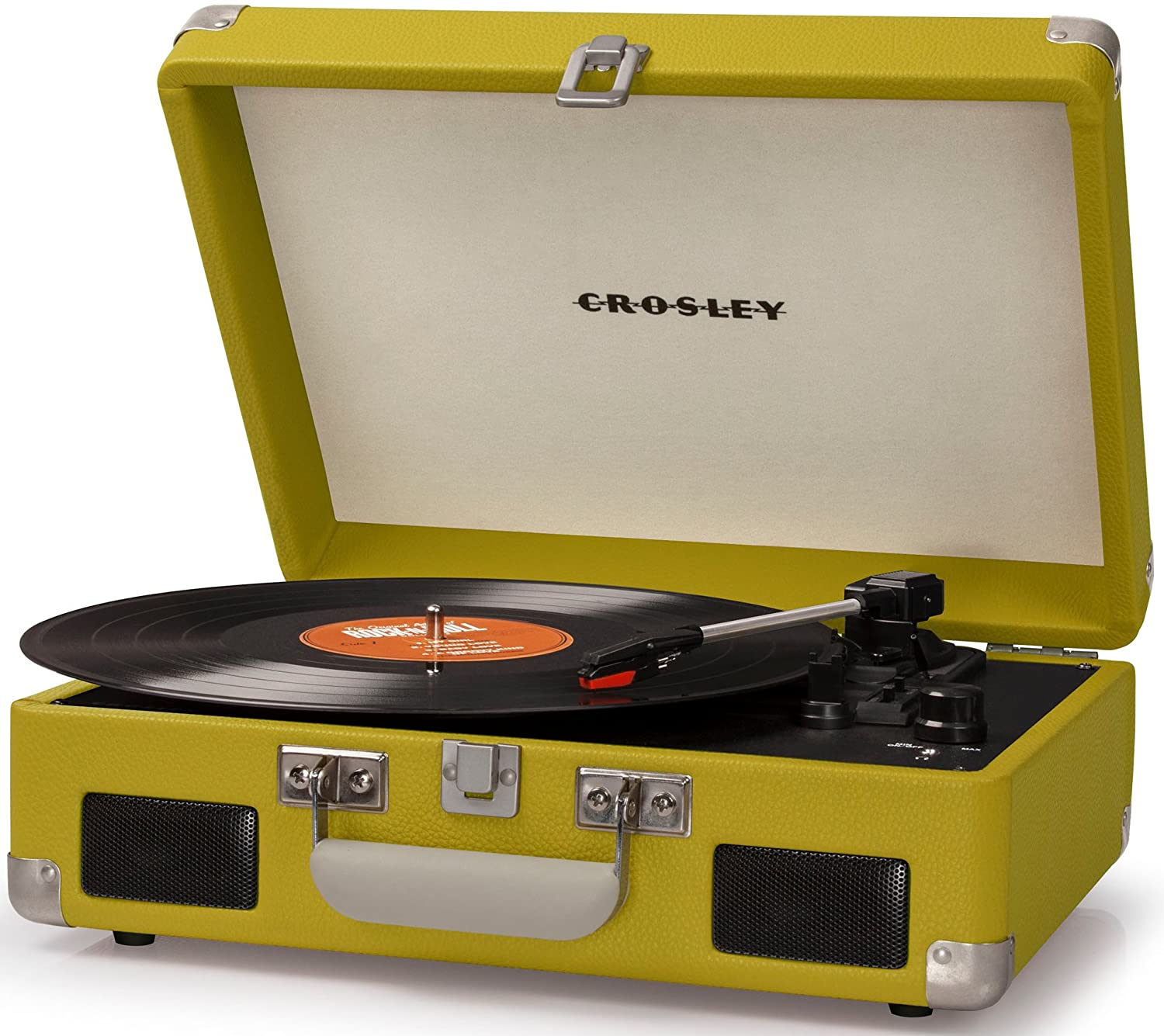 Amazon.com: Crosley CR8005C GR Cruiser II Portable Battery Powered 3 Speed  Turntable, Green: Home Audio U0026 Theater