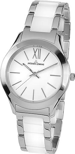 Jacques Lemans Damen-Armbanduhr Rome Analog Quarz Edelstahl 1-1796B