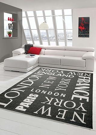 Teppich Modern Flachgewebe Städte Sisal Optik Küchenteppich Küchenläufer City Gr