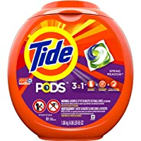 Tide PODS Spring Meadow Scent HE Turbo Laundry Detergent Pacs, 81 count