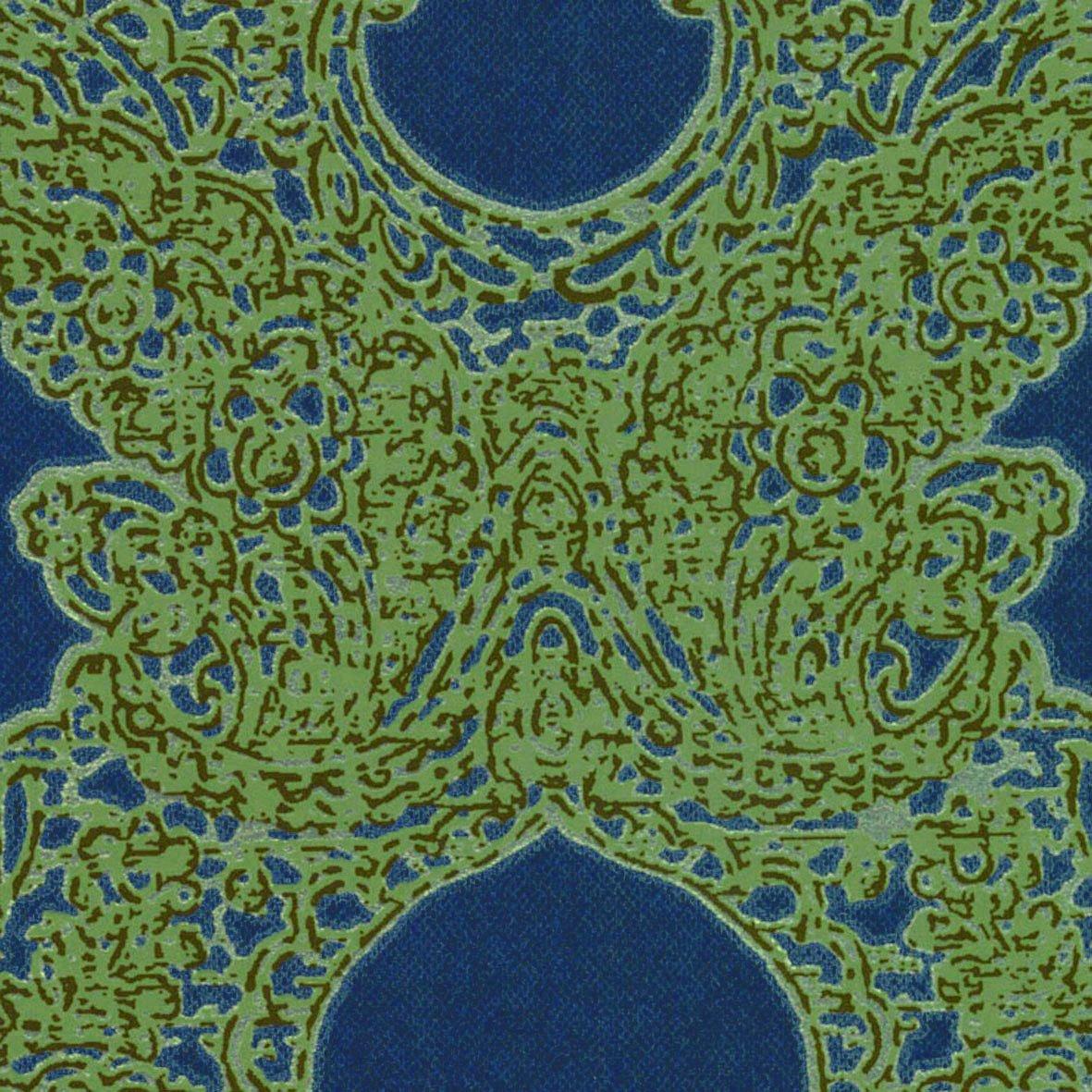 リリカラ 壁紙42m シック ダマスク ブルー LL-8070 B01MRH0B0N 42m|ブルー