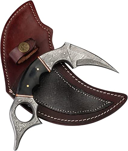 Forseti Steel Dragons Claw Damascus Steel Karambit