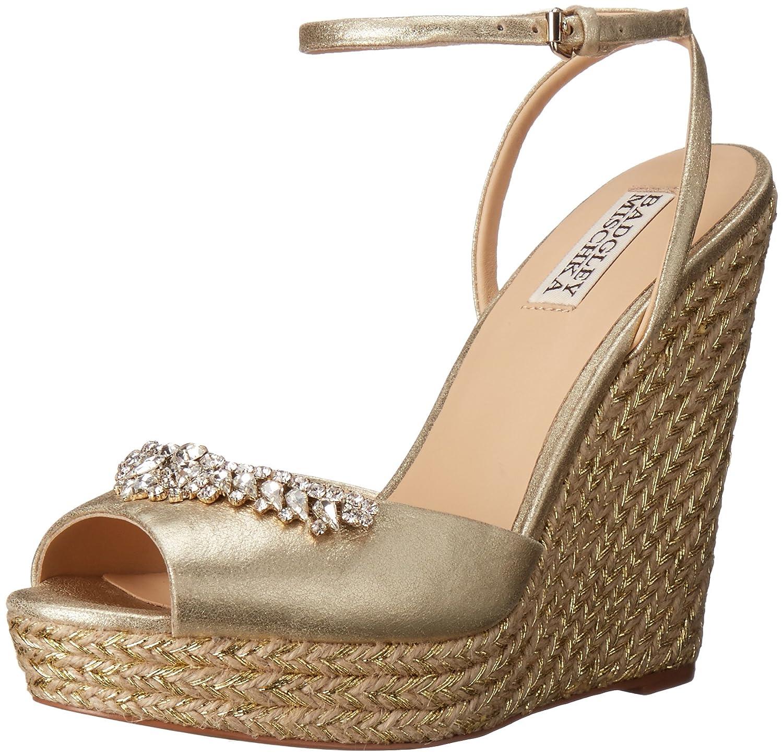 Badgley Mischka Women's Annabel Espadrille Wedge Sandal B015IOH9EM 8 B(M) US|Platino