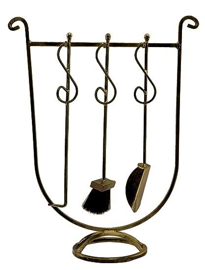 Chimenea chimenea Set, de cubiertos, para chimenea, accesorios, hierro forjado, Nobel