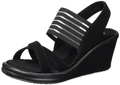 6c5b108c72a Skechers Cali Women s Rumblers-Solar Burst Wedge Sandal