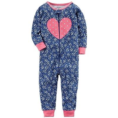 Carter's Baby Girls' 1-Piece Snug Fit Cotton Footless Pajamas