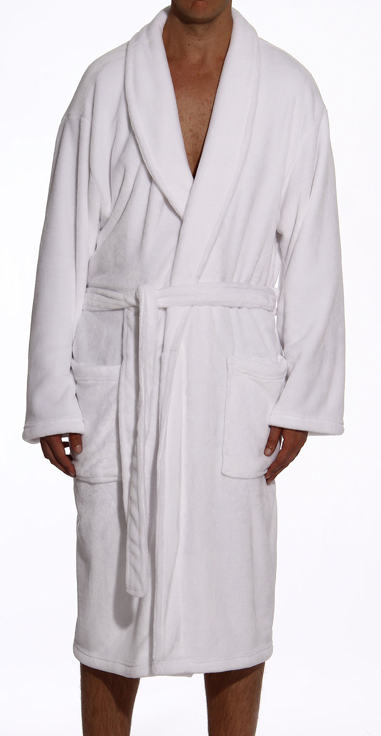 #followme 46901-WHT-XXL Velour Robe/Robes Men