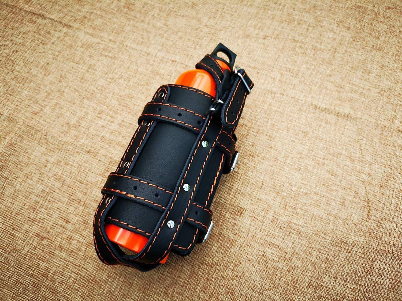 Soporte para Botellas Compatible con HD Linke p/ágina Sportster Soporte para Botellas Harley Davidson dise/ño Negro Naranja Costura Soporte para Bebidas Bolsa para sill/ín Marco de Piel ORLETANOS