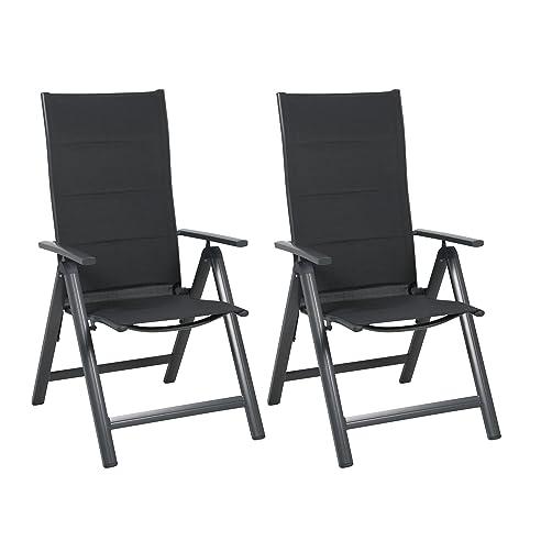 Gartenstühle klappbar  Amazon.de: greemotion Alu-Gartensessel klappbar im 2er-Set ...