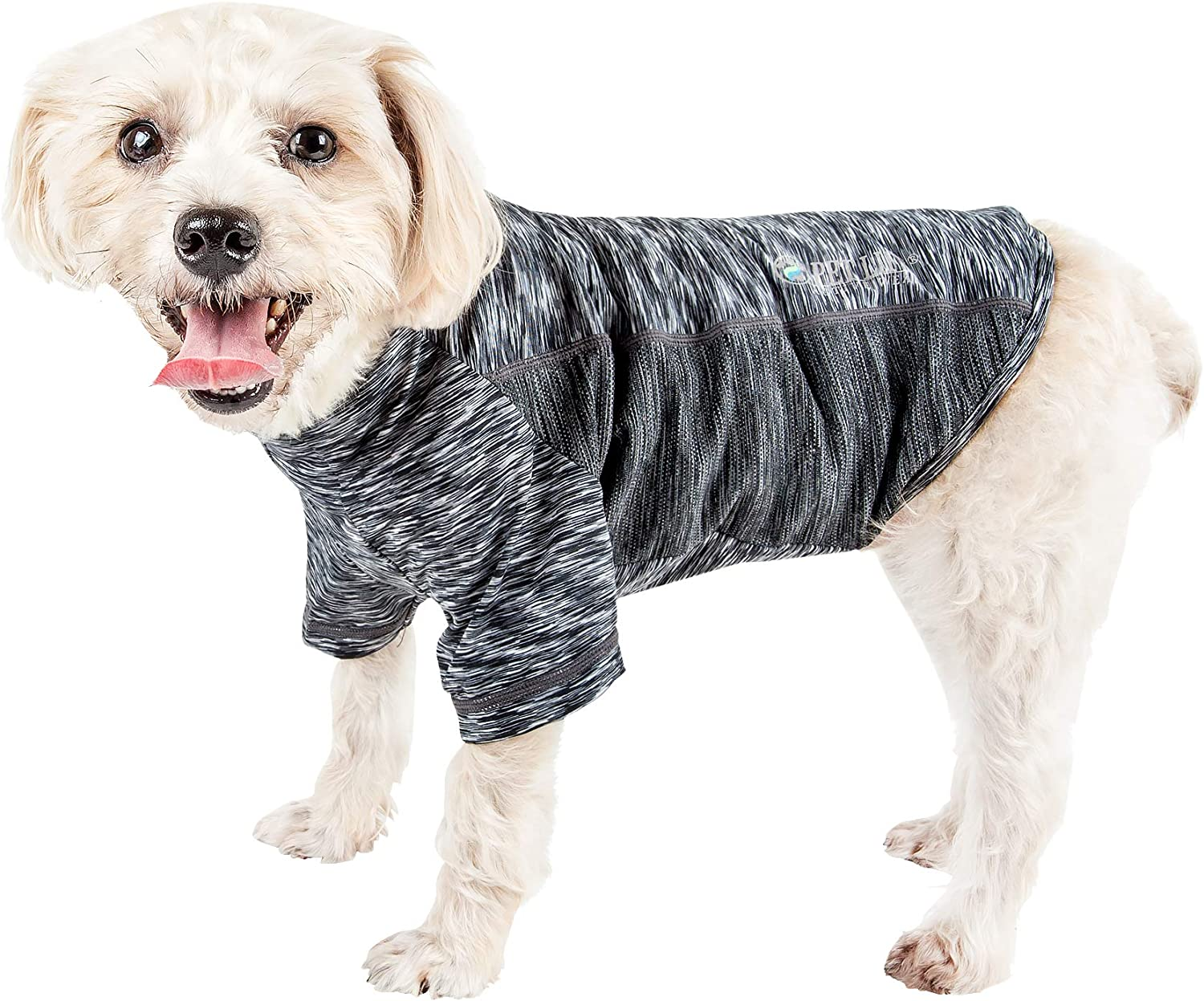 Lucky Petter Pet Clothes for Dog Cat Puppy Raglan T-Shirts Durable and Elastic Dog Shirt Apparel Outfits X-Small, Black//Gray