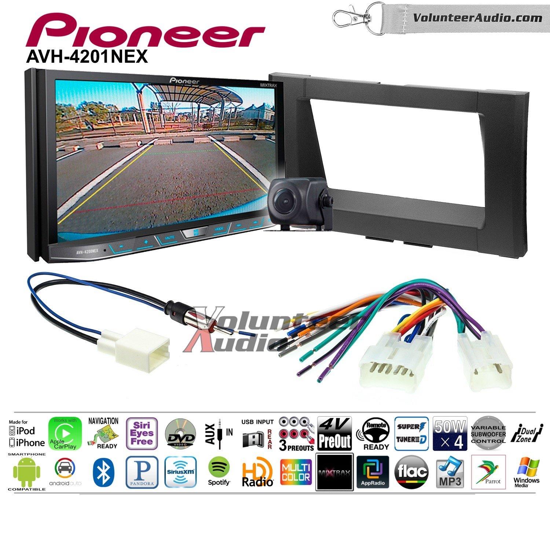 Volunteer Audio Pioneer AVH-4201NEX Double Din Radio Install Kit with Apple Carplay Android Auto Bluetooth Fits 2014-2017 Non Amplified Toyota Tundra