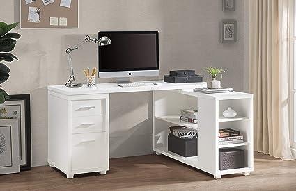 executive desk white
