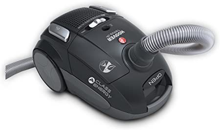 Hoover TE70_TE10 TELIOS Plus TE 10-Aspirador con Bolsa. Clase Eficiencia Energética: A. Filtro HEPA, 3.5 litros, 83 Decibelios, Negro luxor: Amazon.es: Hogar