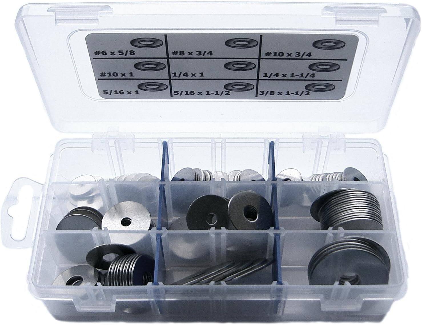 StainlessTown K18FNW Stainless Steel Fender Washer Assortment Kit