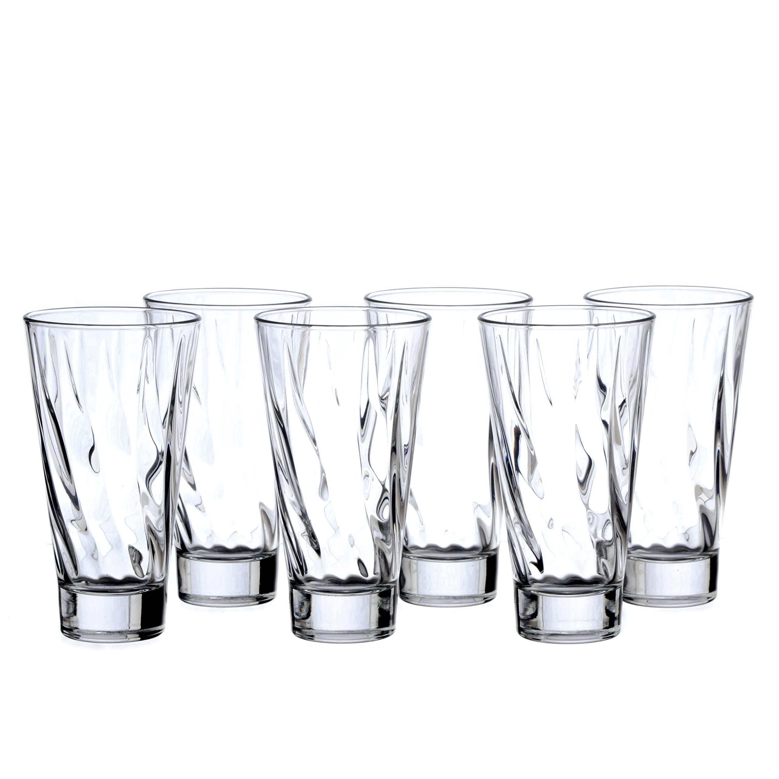 Crystal Highball Water/Beverage/Cocktail Glasses Sets, (4-Pieses set, 8-Pieces set, 16-Pieces set), 12oz (350 ml), Durable Tempered Glass (8)