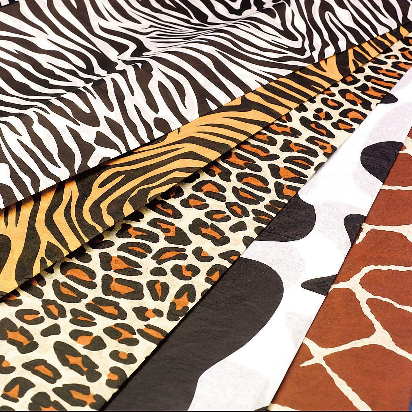 Zebra Striped Tissue Paper