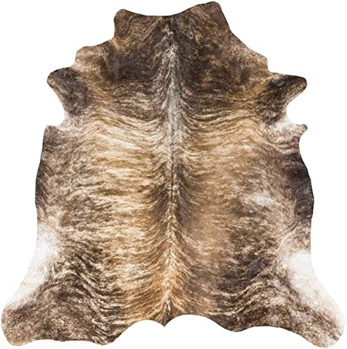 RODEO Superior Rodeo Brindle Cow Skin Cowhides Rug Large Size