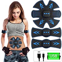 USB Rechargeable Abs Stimulator,OUBARDE EMS Abs Trainer Muscle Trainer - 6 Modes & 10Levels - Core Strength & Abdominal Trainers-Home Exercise Equipment Perfect Workout Equipment for Men & Women