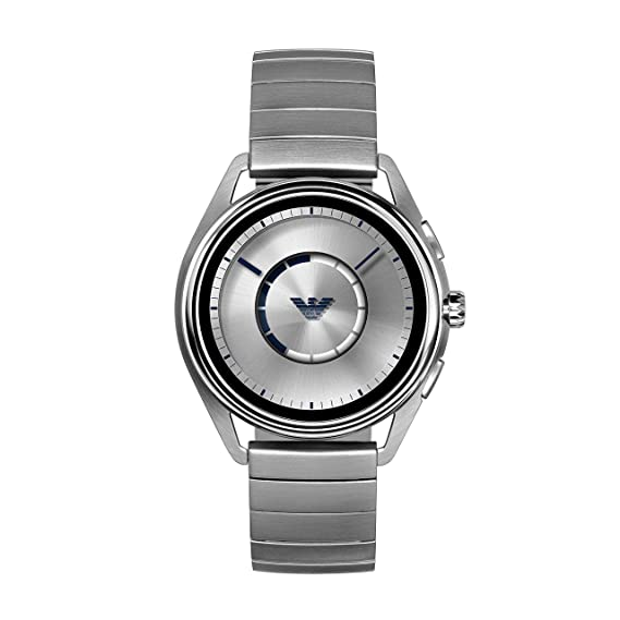 Emporio Armani Mens Smartwatch 2 Powered with Wear OS by Google with Heart Rate, GPS, NFC, and Smartphone Notifications